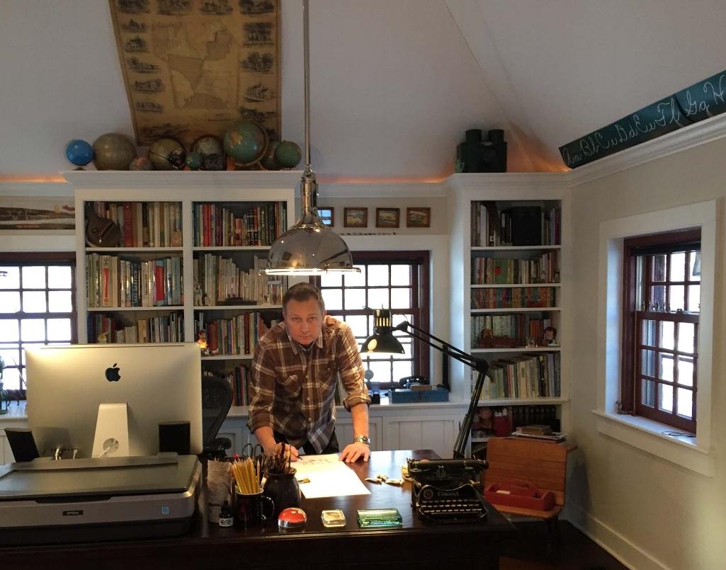Smith in his studio