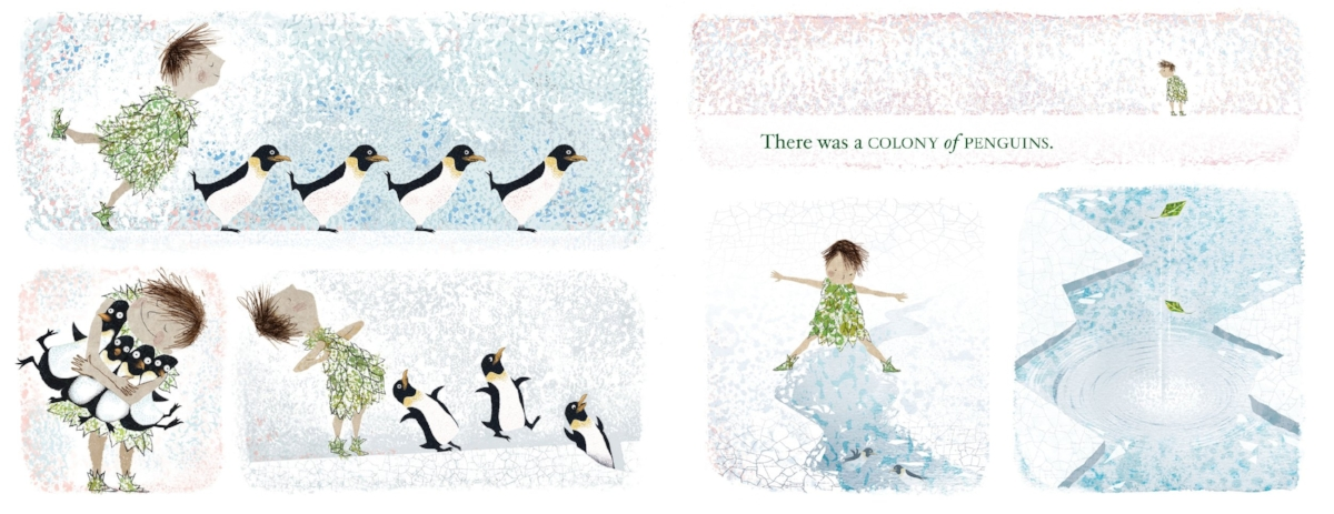 Interior spread from   There Is a Tribe of Kids ,  Lane Smith