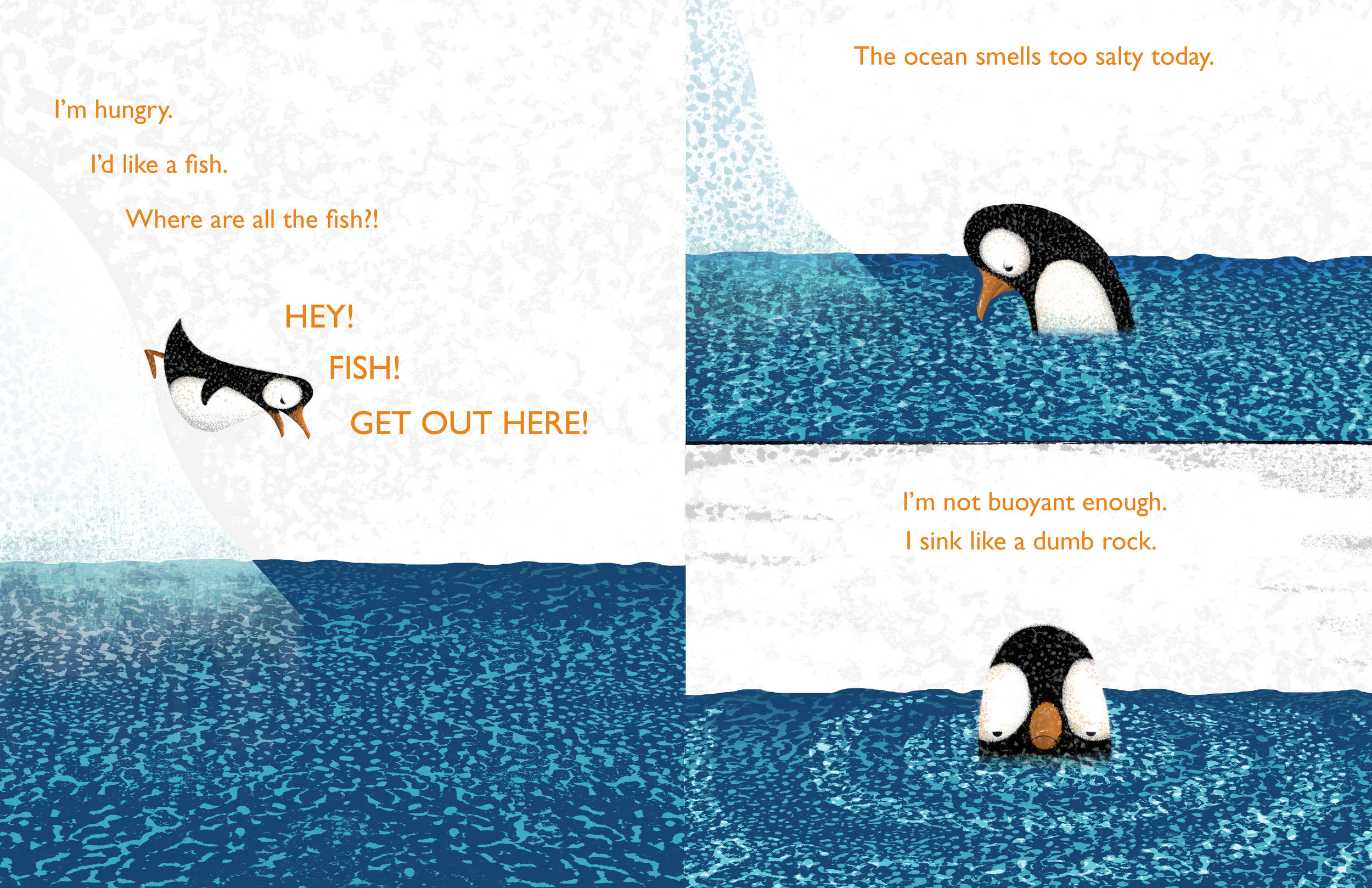 Interior spread from   Penguin Problems  , by Jory John, illustration by Lane Smith