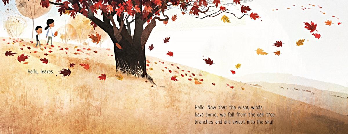 Interior spread from   Goodbye Autumn, Hello Winter  , Kenard Pak