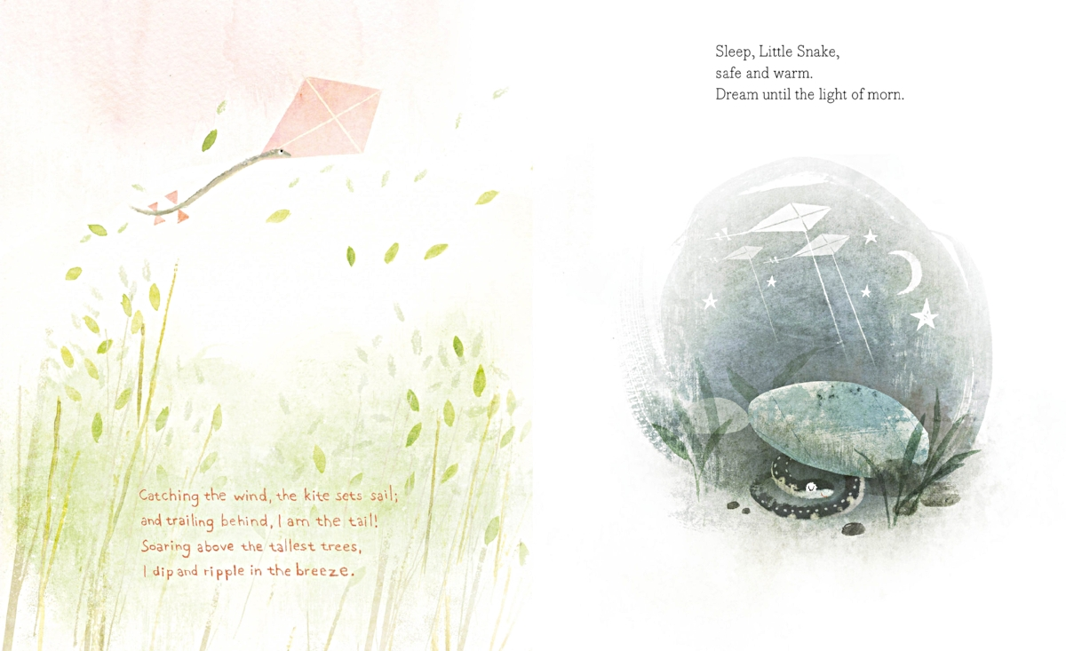 Interior spread from   When the World Is Dreaming   ,  by Rita Gray, illustration by Kenard Pak