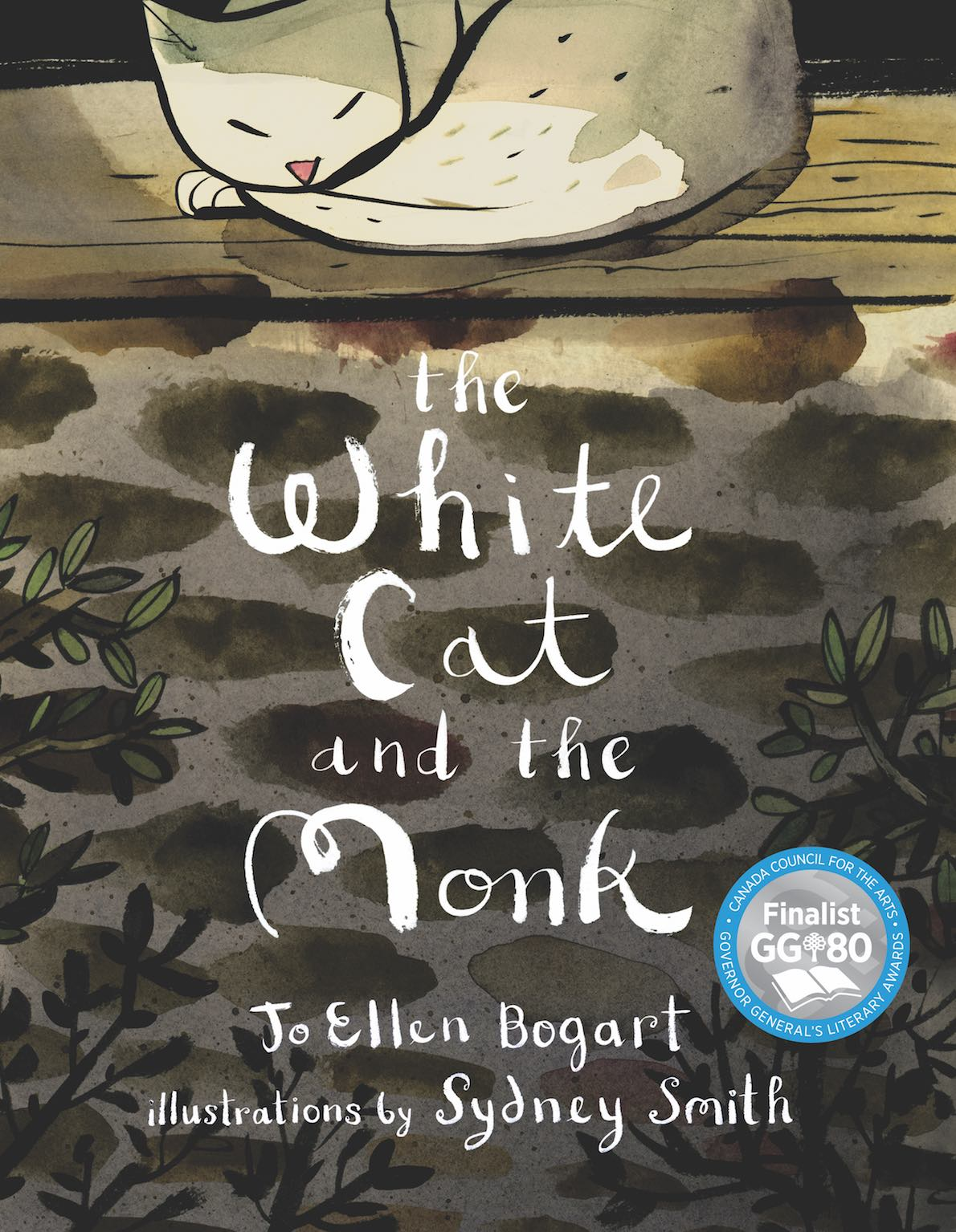 Cover of    The White Cat and the Monk   , by  Jo Ellen Bogart , illustration by Sydney Smith