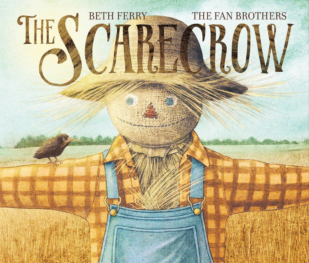 The Fabulous Scarecrow an original 5x5 painting