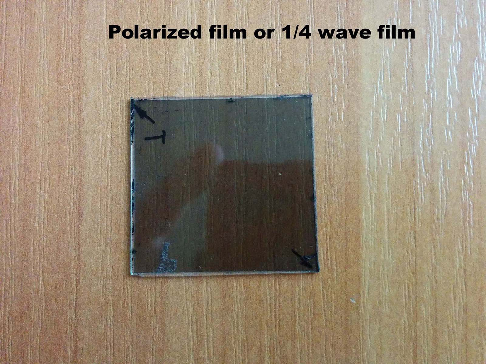 You could cut the polarizer off an old cell phone, lap top or LCD display