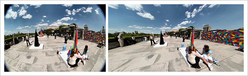 Equidistant projection (F-Theta type of lens) vs Perspective projection (F-TanTheta type of lens)