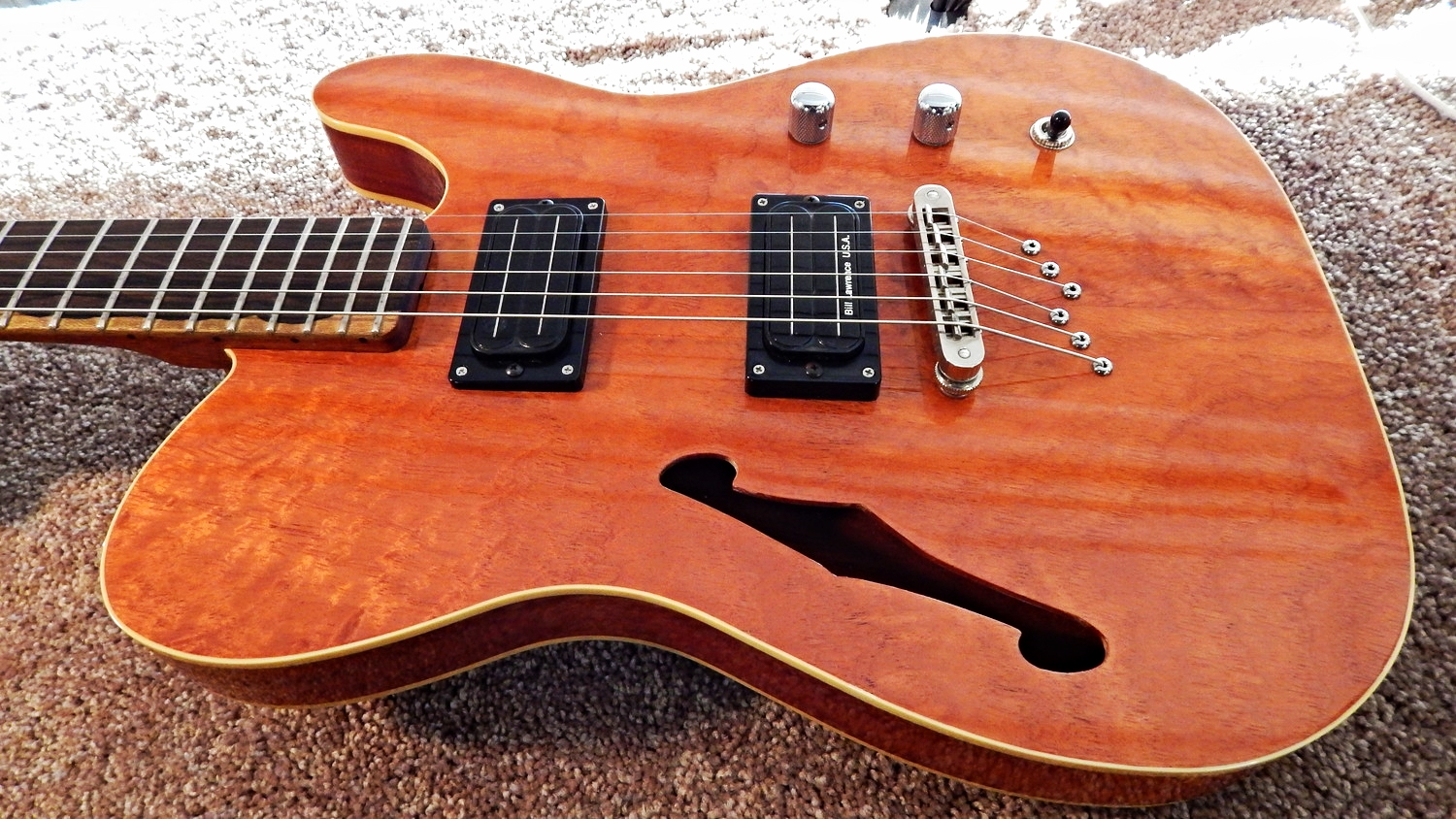 Beautiful Tele Thinline...locally built and locally played!