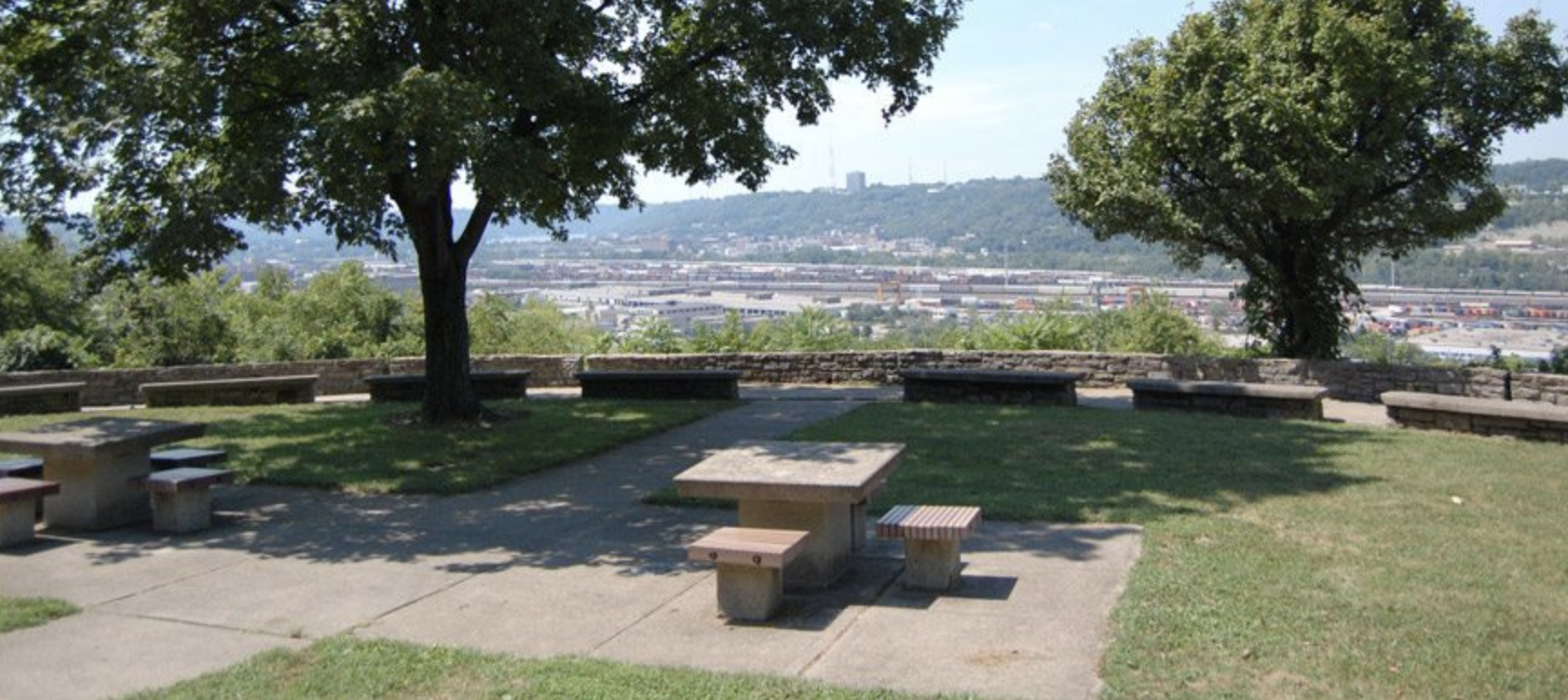 Fairview Park's overlook onto Cincinnati.  Image from:  cincinnatiparks.com/central/fairview-park/