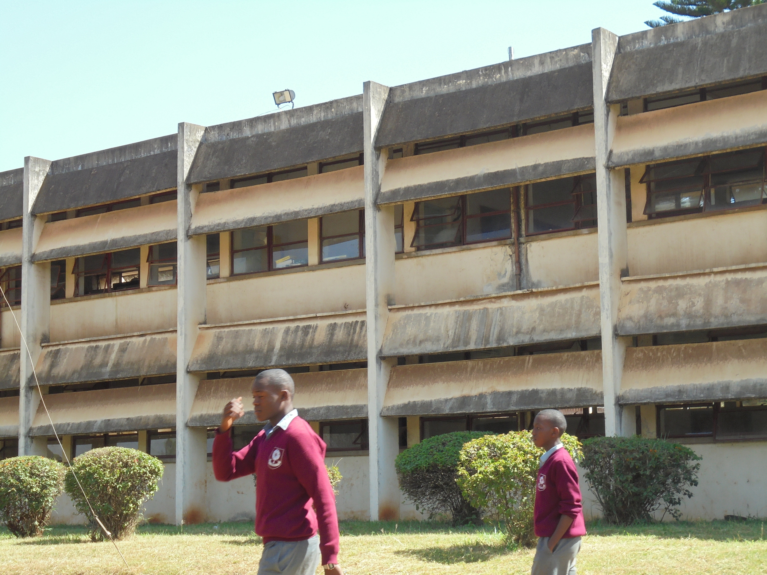 The whole school and all the Houses need redecorating. The windows and roof of the main tuition block have, however, been repaired this last year.