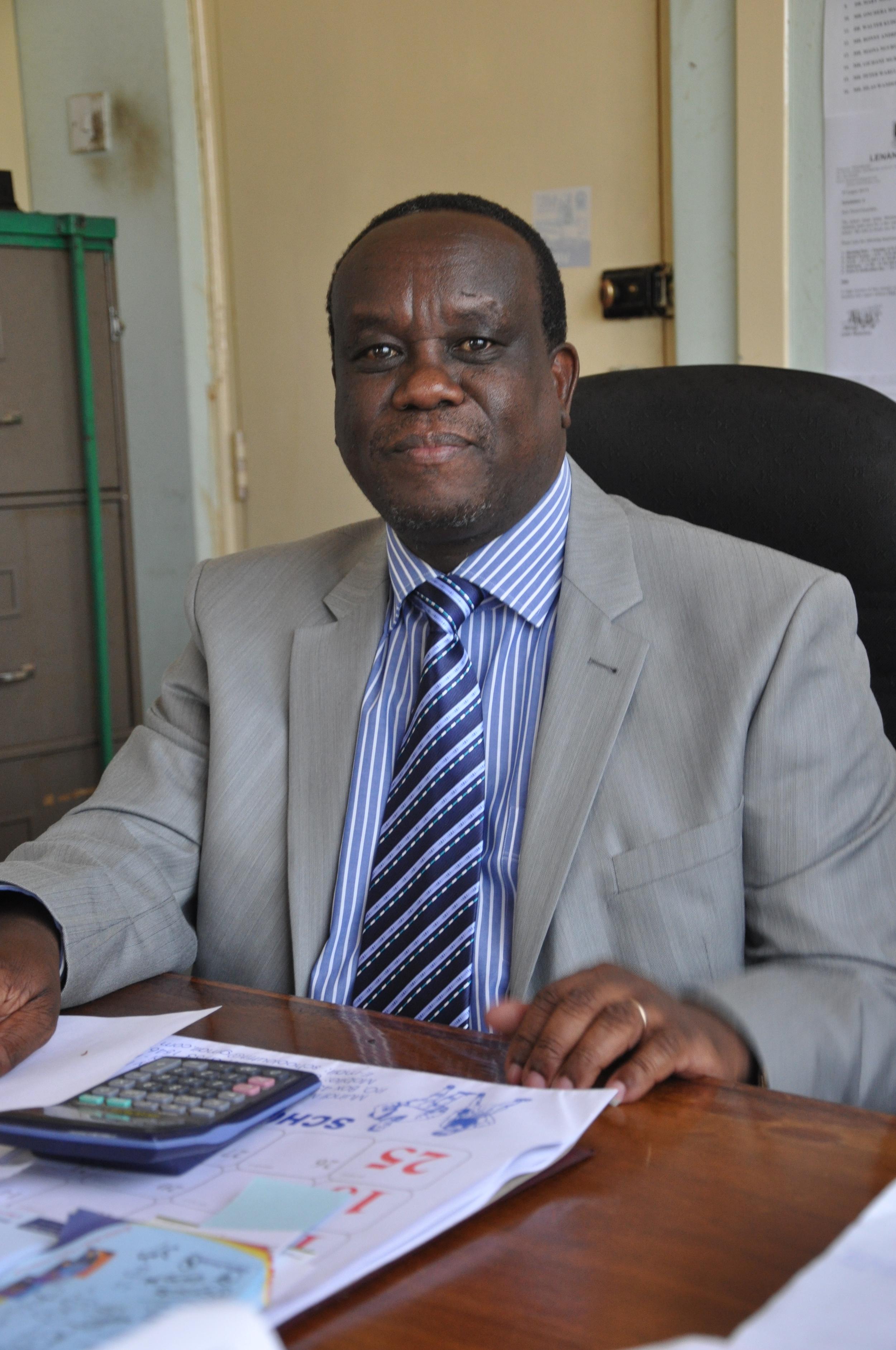Mr William Mwangi in his office.