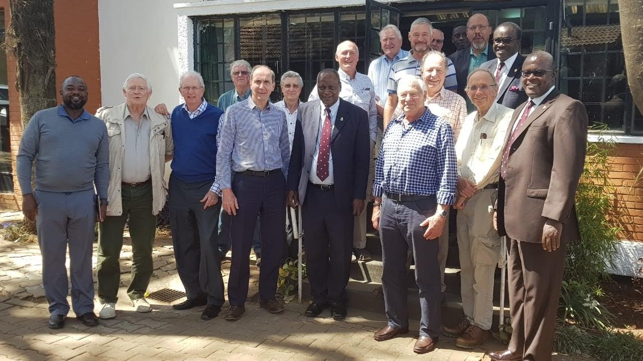 Back row; Jock Anderson, Dave Shaw, Steve Hayo Ochieng, Martin Mogwanja  Third row; Ronnie Andrews, Charlie Fraser, Chacha Odera  Second row; Peter Low, Arnie Mitchell, Dudley Stannah  Front; Mike Kingori, Mike Andrews, Gayling May, Nigel Gaymer, Samson Ndegwa, Jeremy Mott, Peter Patterson, David Kabeberi  Also in attendance; Peter Gachuhi, Farid Mohamed