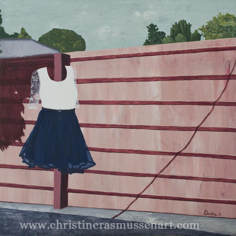 """Girlie Girl , 12""""x12"""", oil & acrylic on canvas, 2015."""