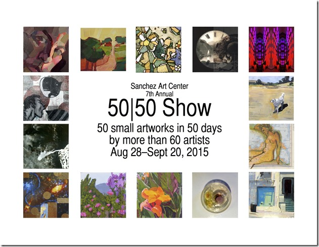 Images on postcard from 6th Annual 50|50 Show.
