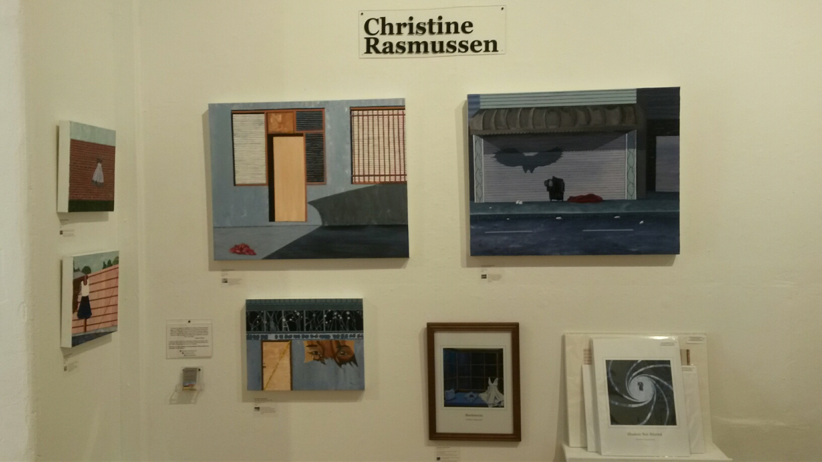 My display at City Art Gallery this month - trust me, it looks better in real life. Don't believe me? Come see for yourself!