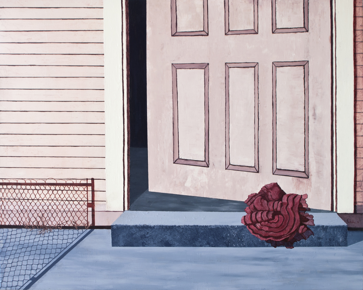 C. Rasmussen | Out | 2015 | Oil on canvas | 24 x 30 inches | Sold. From my  She Was Just a Dream  series.