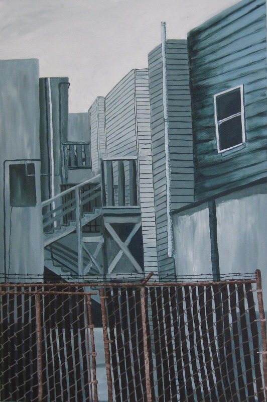 C. Rasmussen |  Green City  | Oil on canvas | 36 x 24 inches | $1080