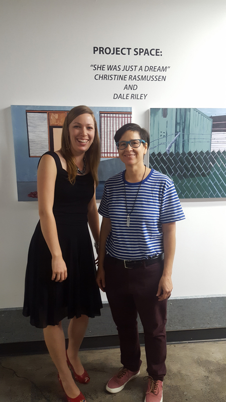 C. Rasmussen with Gallery Manager and mentor,  Veronica de Jesus .