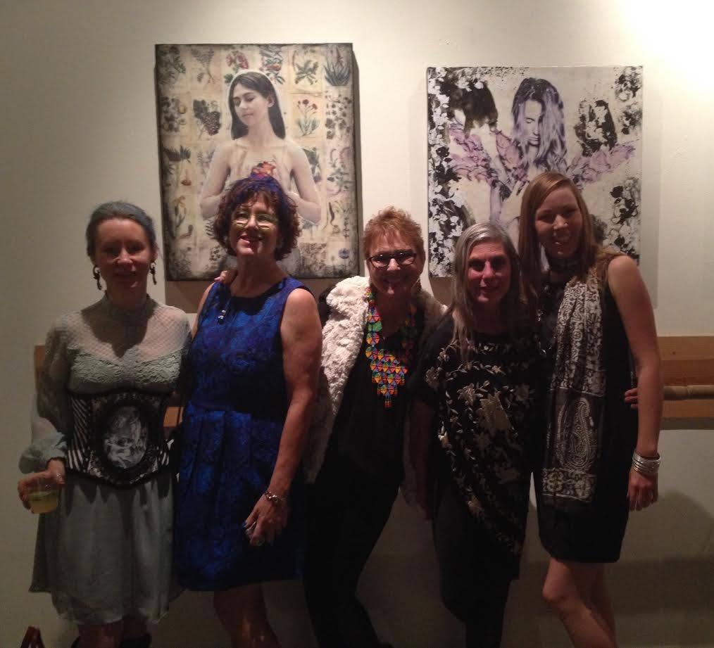 L to R: Nicole Fournier, Miki Berman, Mara Zaslove, Tannis Kobrinsky, Christine Rasmussen