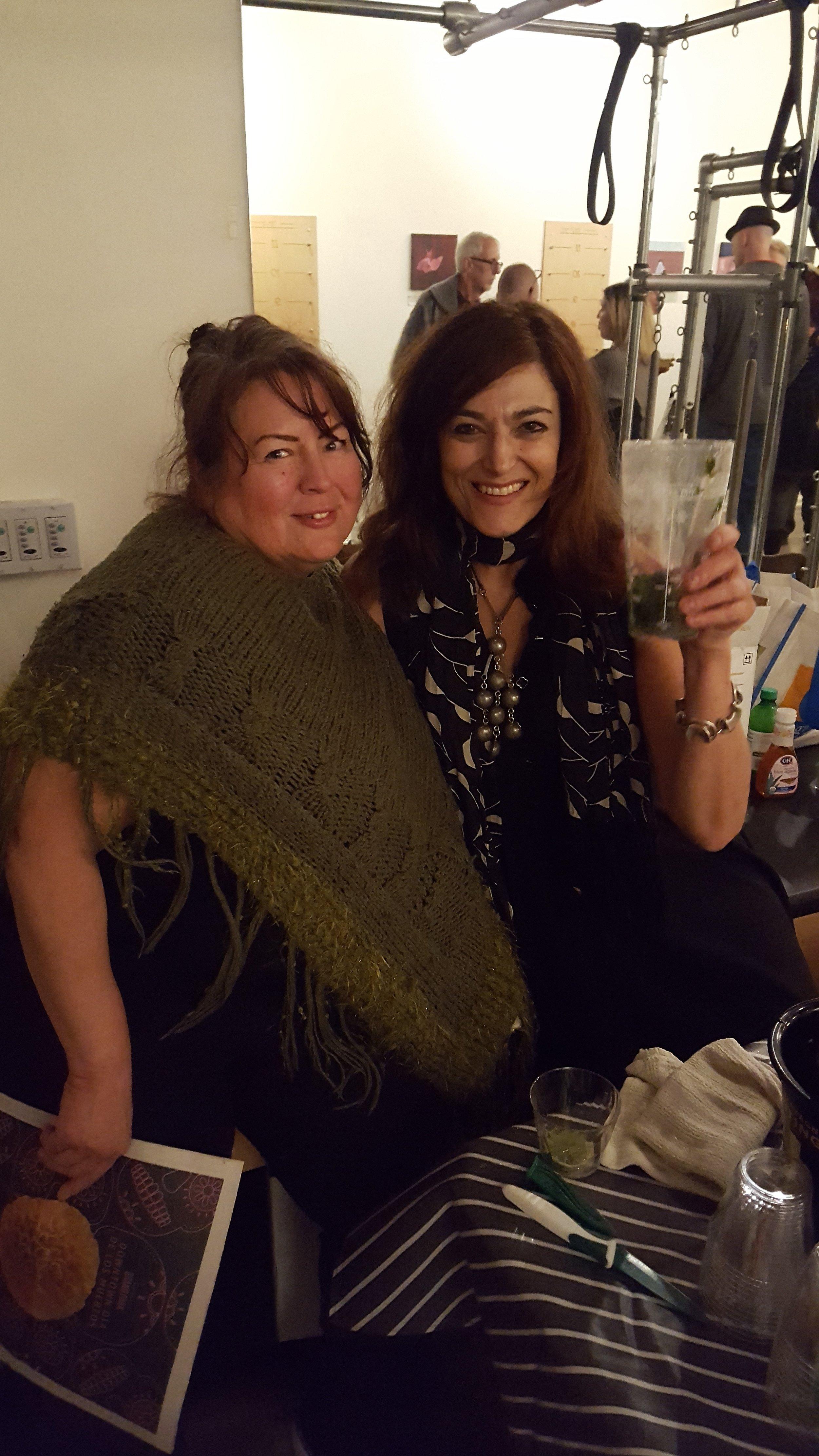Bartender extraordinaire Wendy Storch (right)