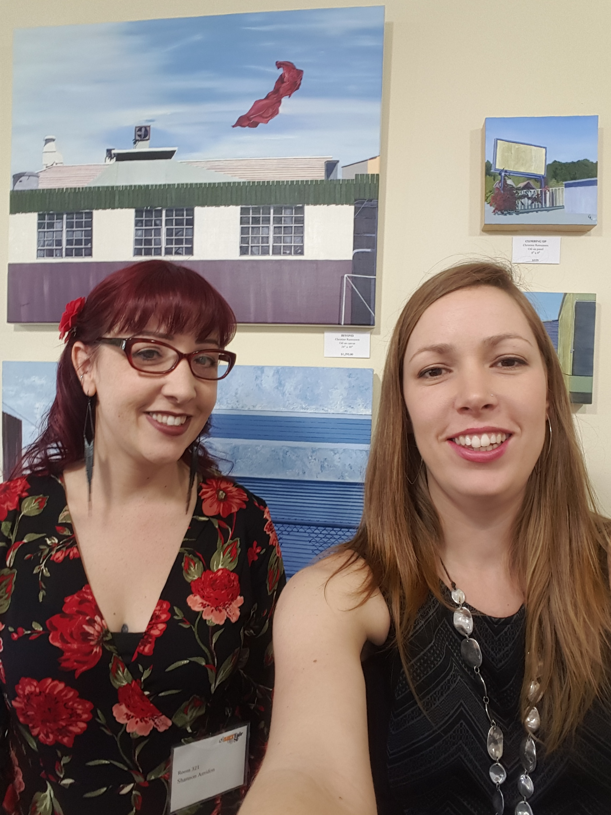 Shannon Amidon & Christine Rasmussen at StARTup Art Fair, San Francisco, 2017.