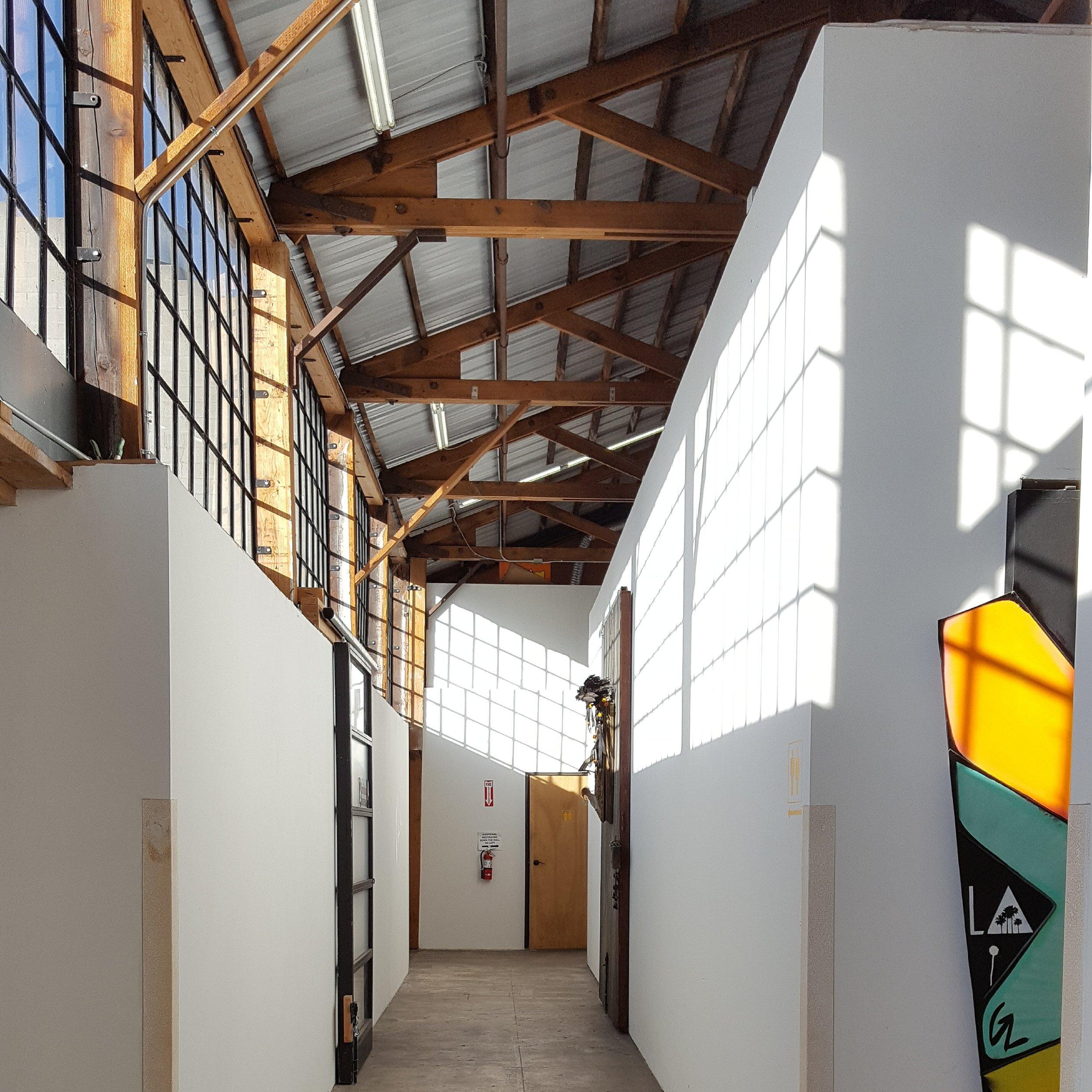 Hallway at Keystone Art Space; my studio is the door on the left.  Photo credit:   C. Rasmussen.