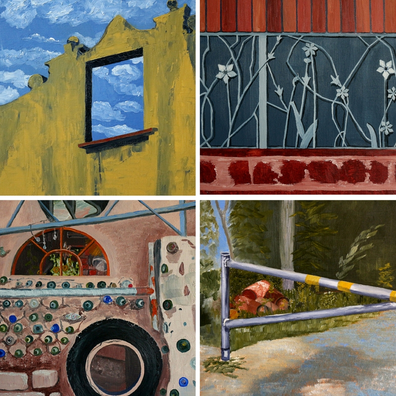 "C. Rasmussen | Selections from my   Windows   series.  Each: 6""x6"" 