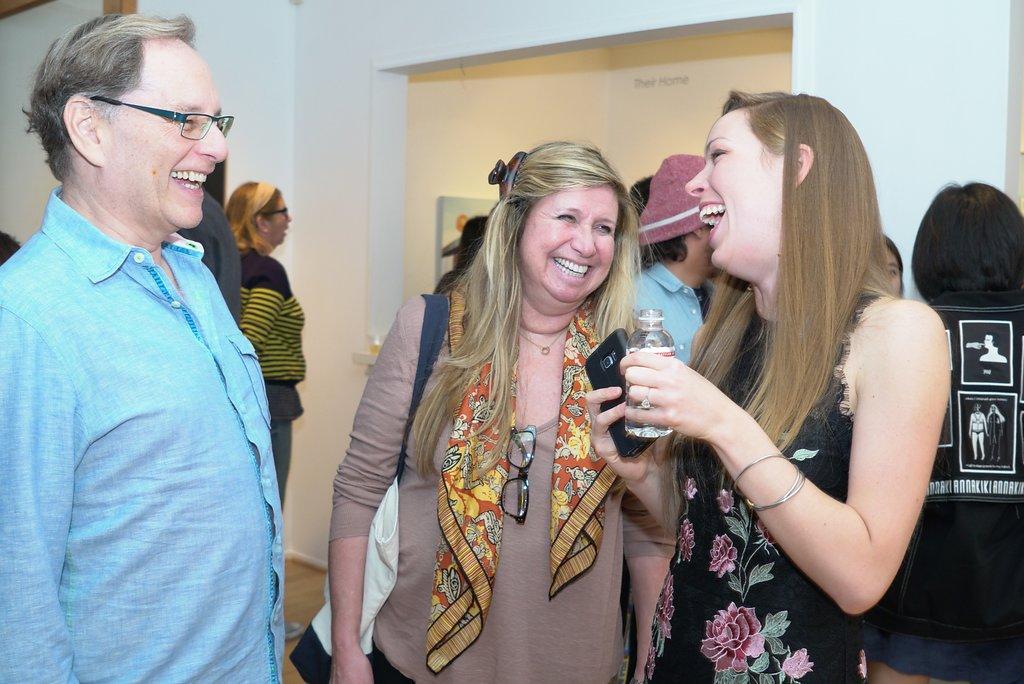 Christine Rasmussen with Diane Namm at LAUNCH LA opening, Feb 3, 2018.  Photo credit: Chris Devlin.