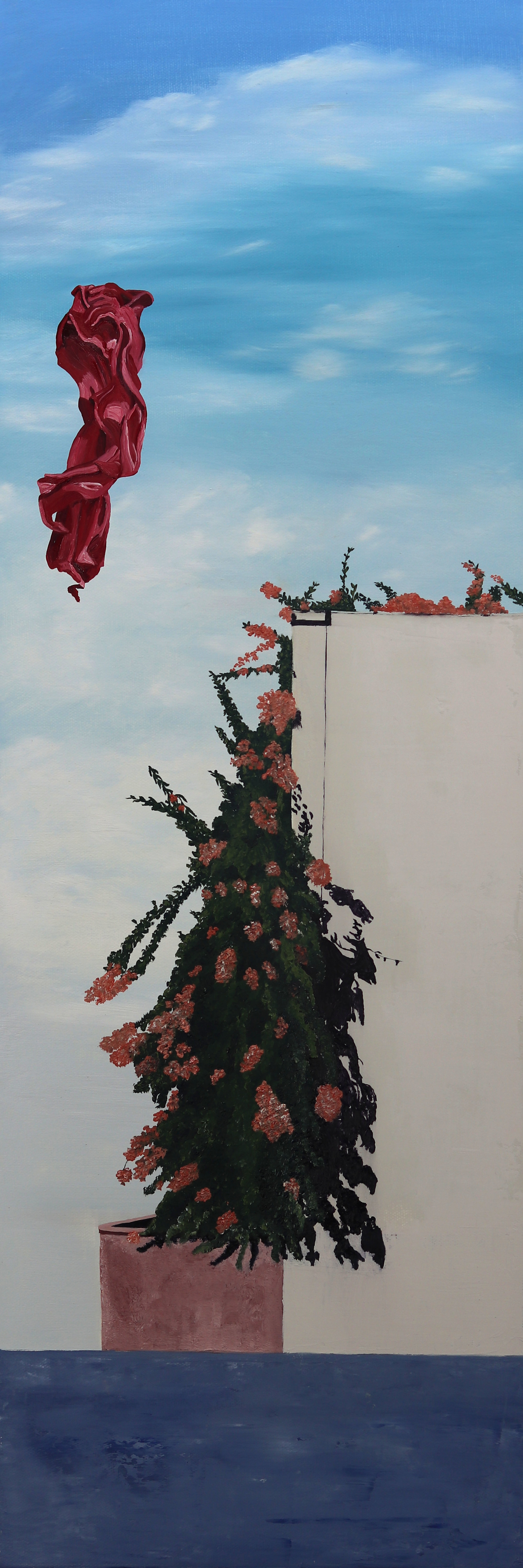 C. Rasmussen    Floating Above    30x10 inches   oil on canvas.