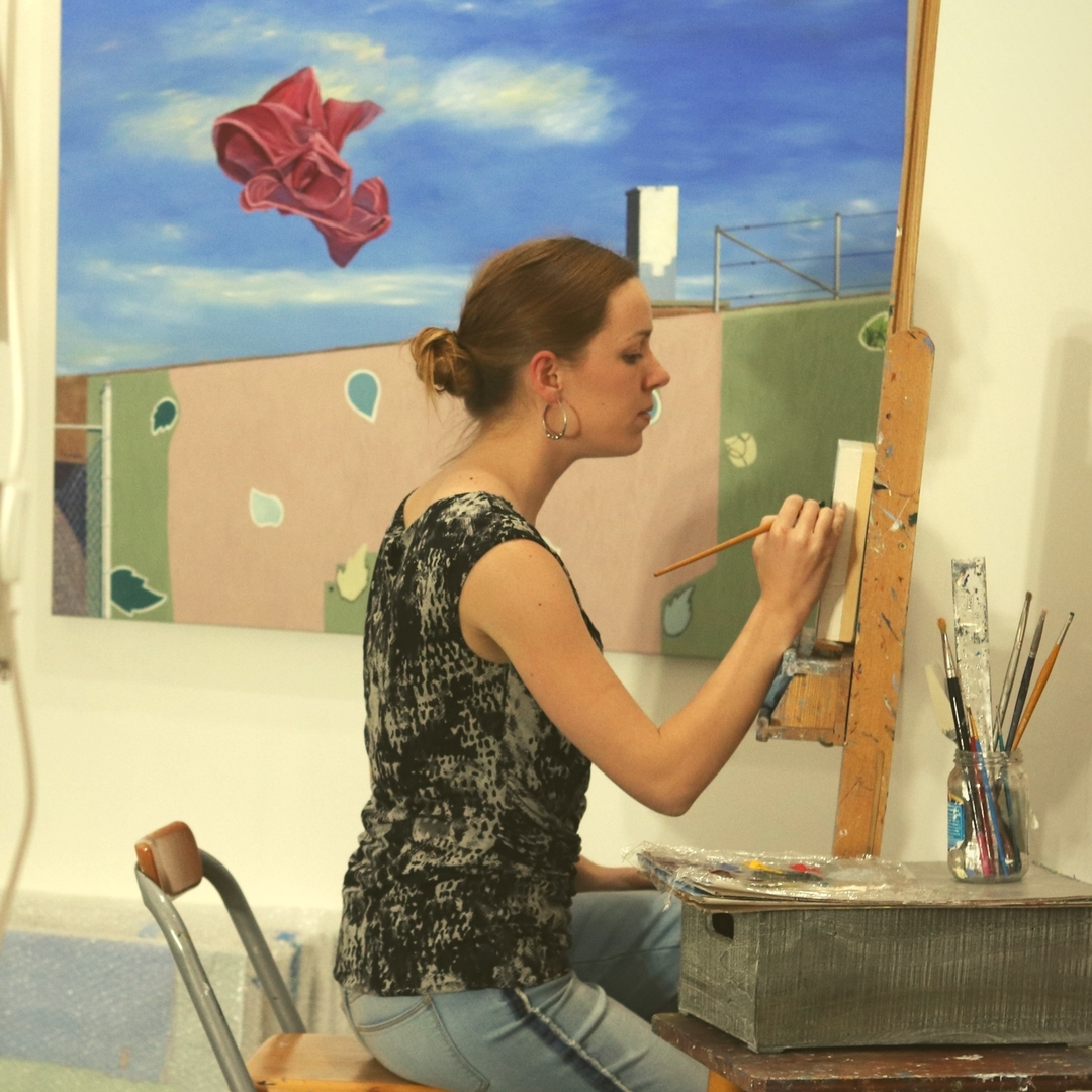 C. Rasmussen in her Los Angeles studio, 2018.