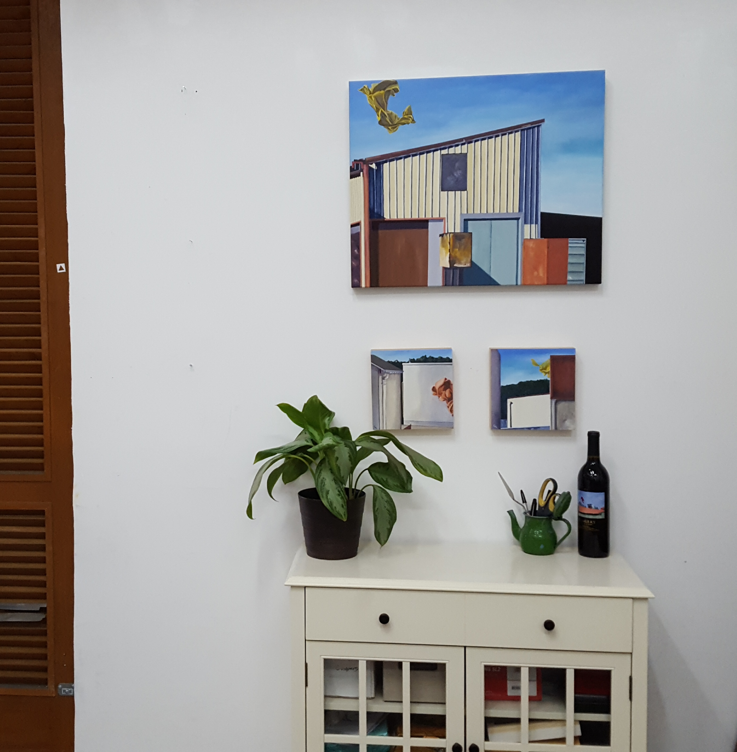 C. Rasmussen - Available works at Gabba Gallery's Wishlist 6 show. As photographed in artist's studio.