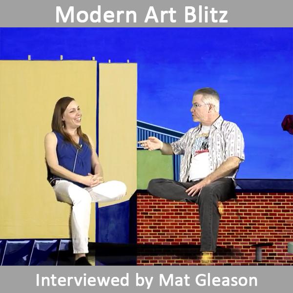 Christine Rasmussen interviewed by Mat Gleason on Modern Art Blitz.