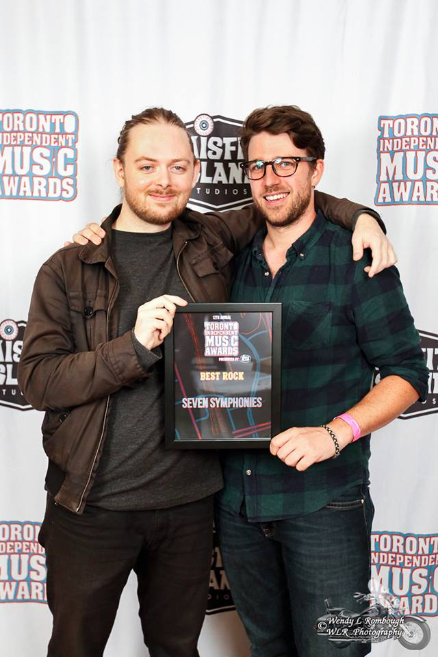 "Sean (Left) and Bryan Bindon ""Life Times"" Mastering Engineer after winning the ""Best Rock"" TIMA award!"