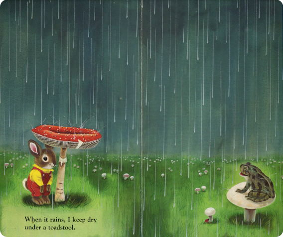 Illustration from I am a Bunny by Richard Scarry