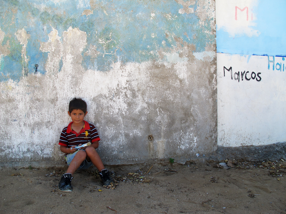 Marcitos at side wall of the school