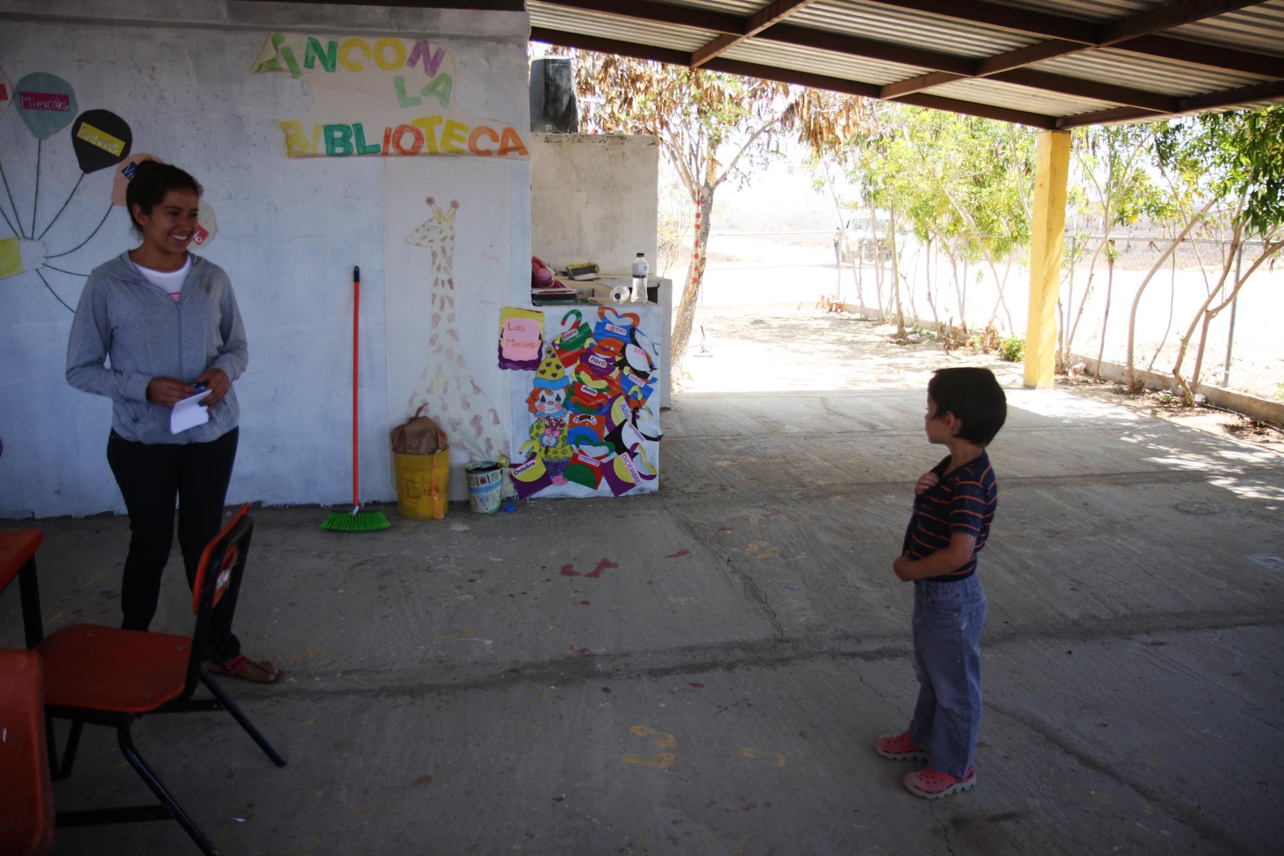 The first moment Emilio met Vanessa, his teacher.