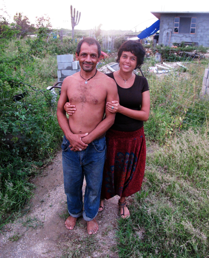 Marcela & Sigfrido at their home. We called them Sigcela.