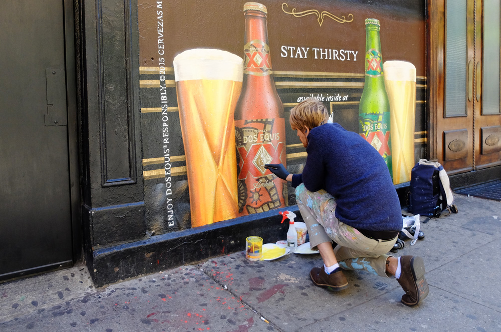 Professional Sign Painter Dos Equis Ad