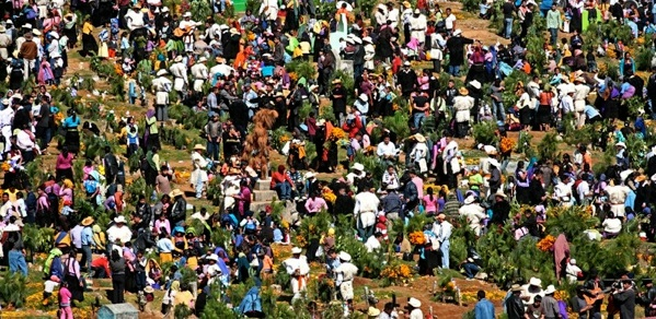 Day of the Dead, San Juan Camula, Chiapas  by Bruce Herman