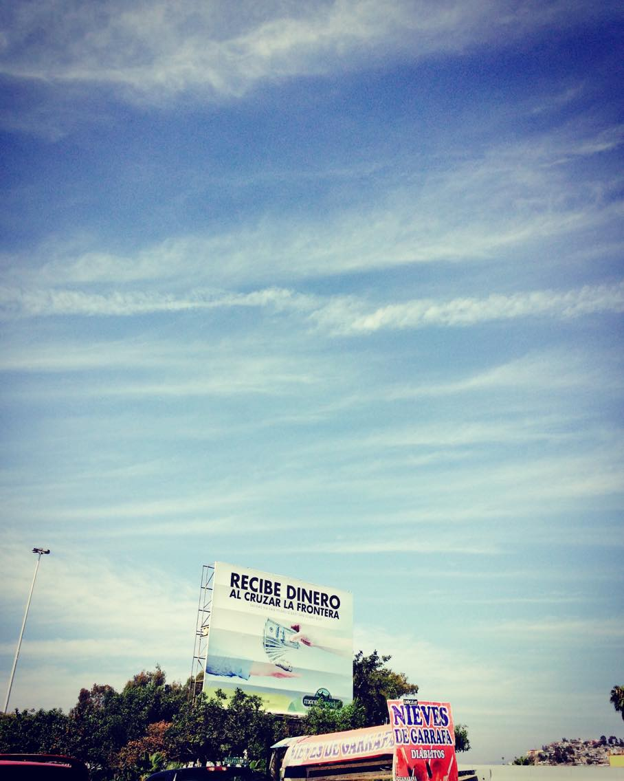 An ominous sign at the Tijuana border crossing