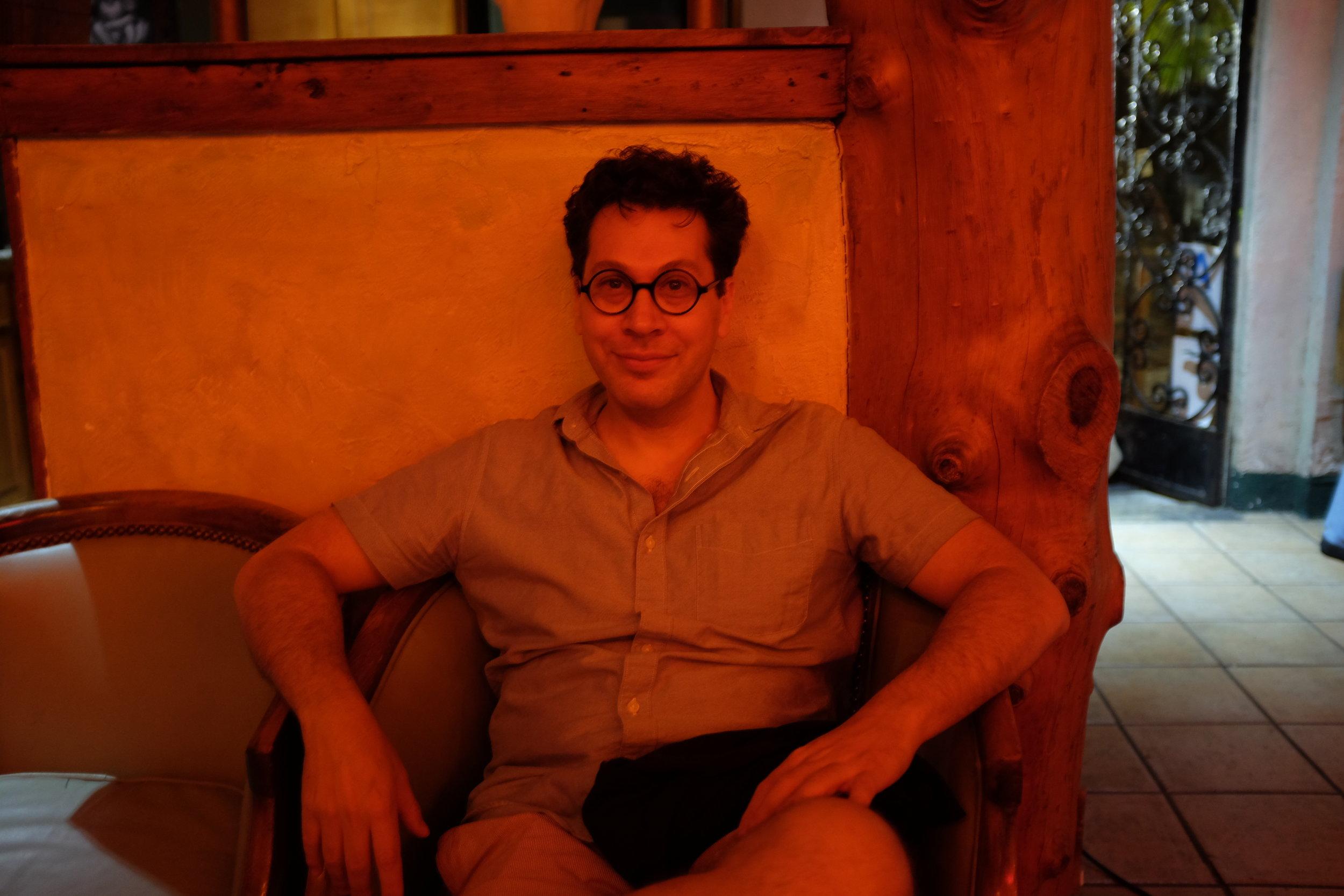 Dan Levenson, my LA art star friend in red