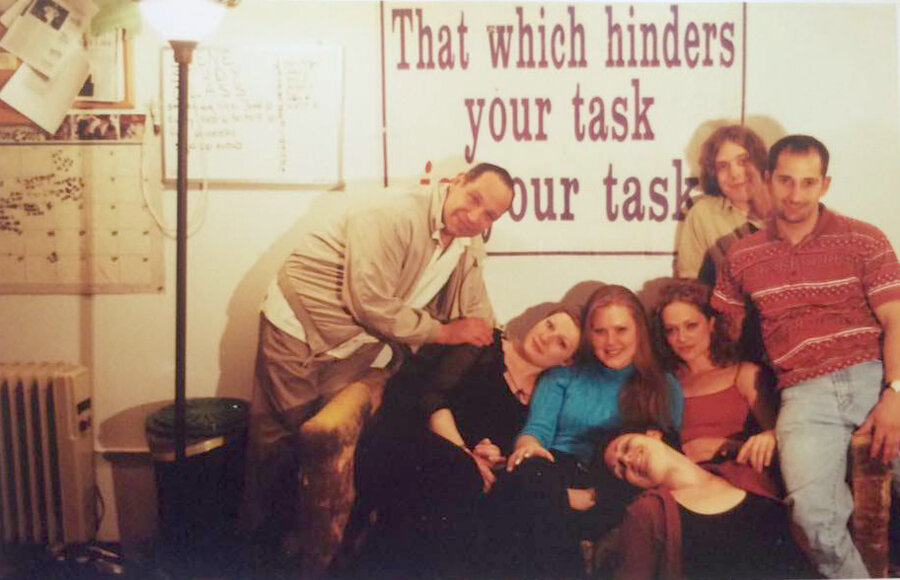 A photo from my Meisner class with Joe Anania, in the late 90's. That's me, all in black.