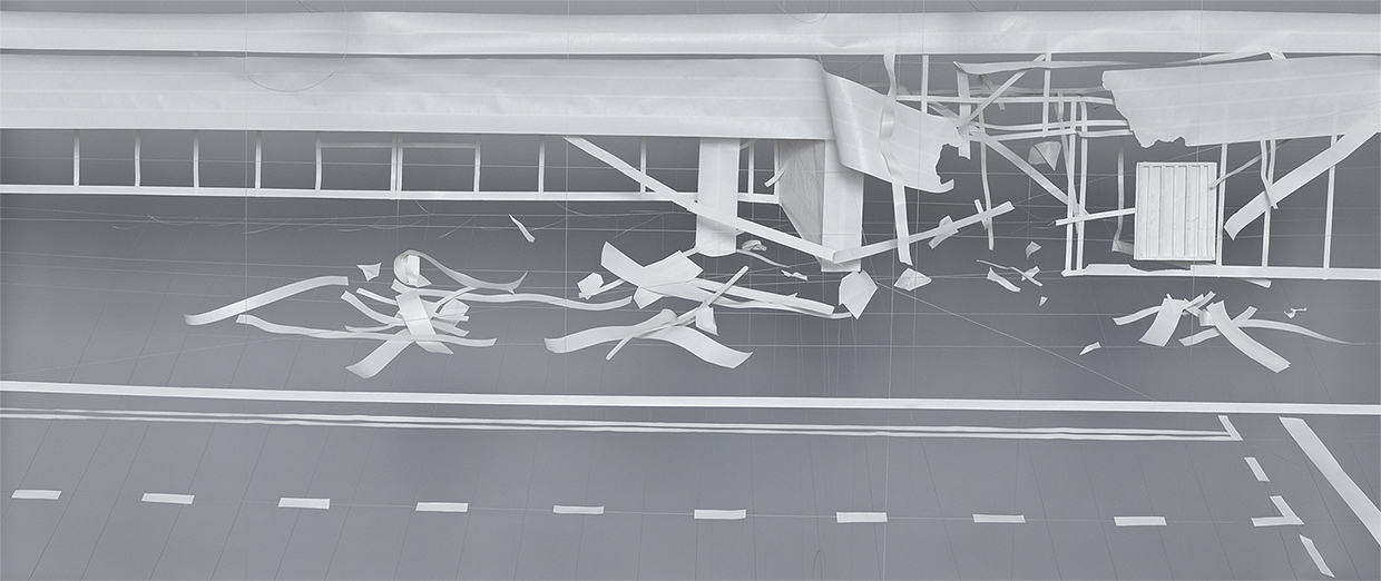 Glasgow Airport  , 2008  73 x 36 inches archival pigment print © Brent Wahl