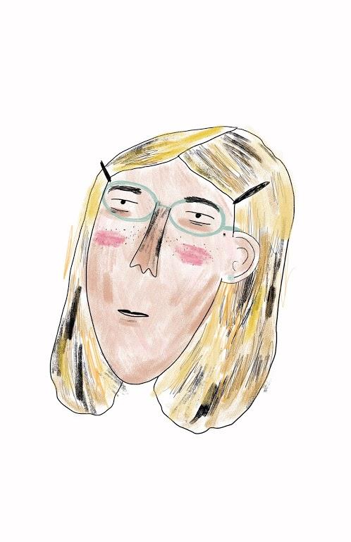 """""""Tired Girl""""  Illustration"""