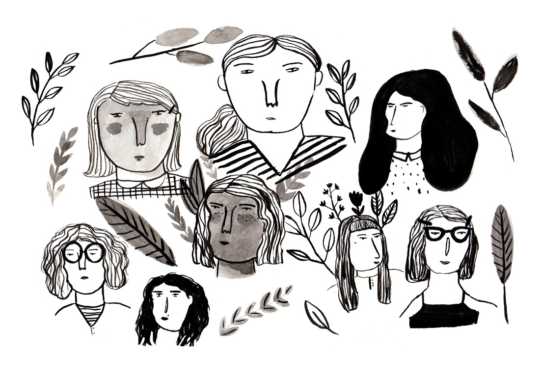 """Lots-o-Girls""  Illustration"