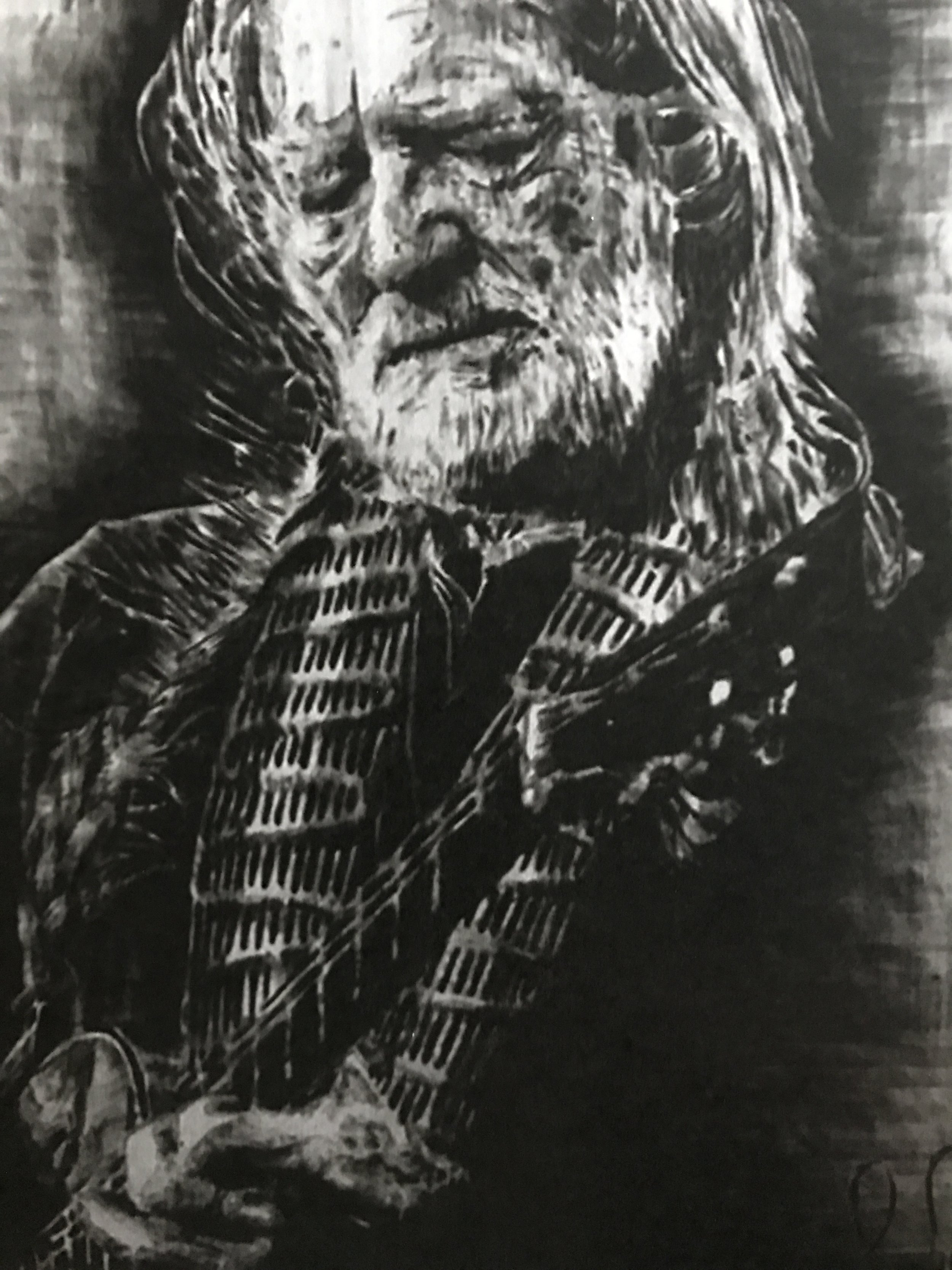 """Willie""  16x12  Pyrography"