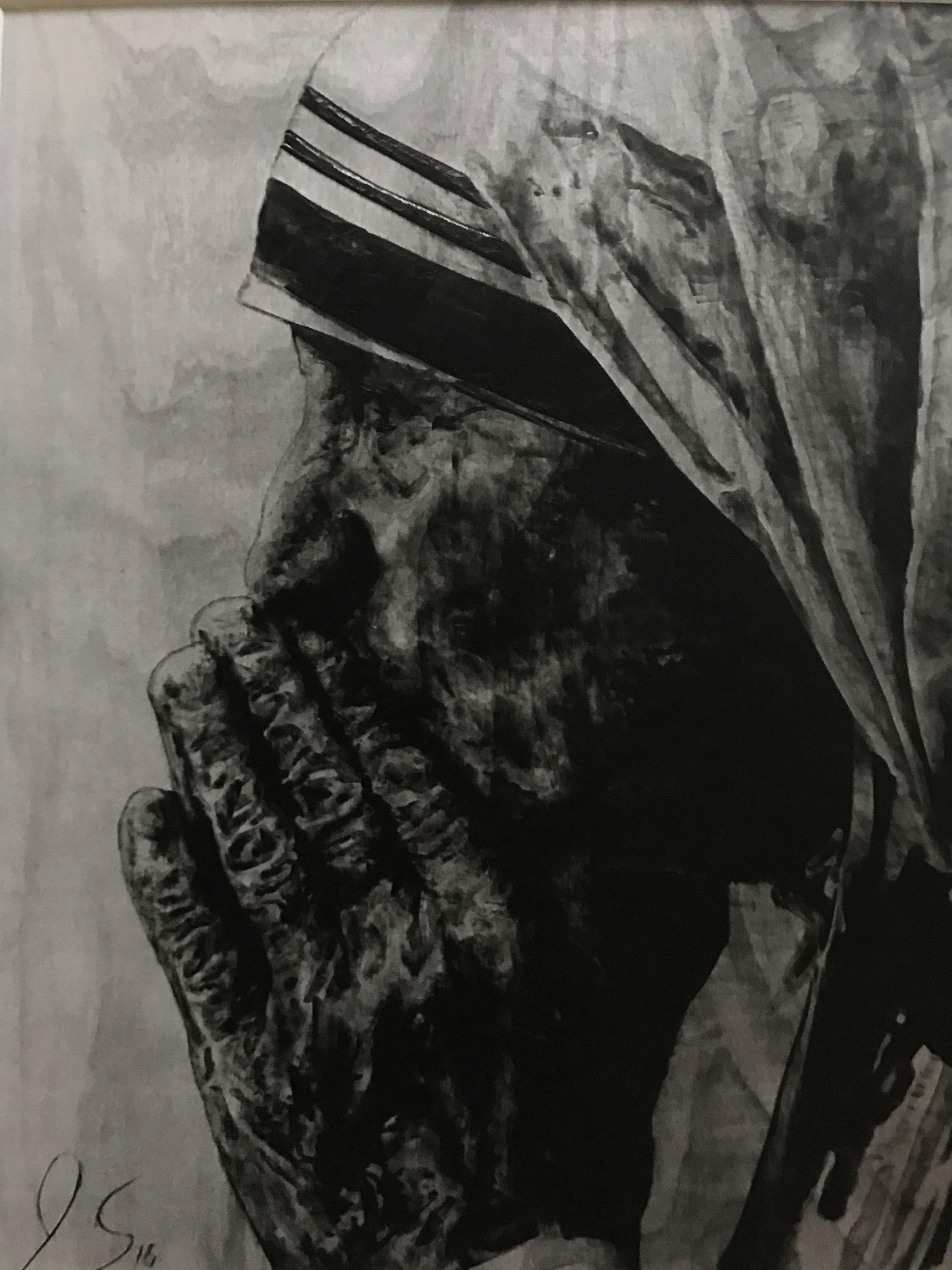 """Mother Teresa""  16x12  Pyrography"