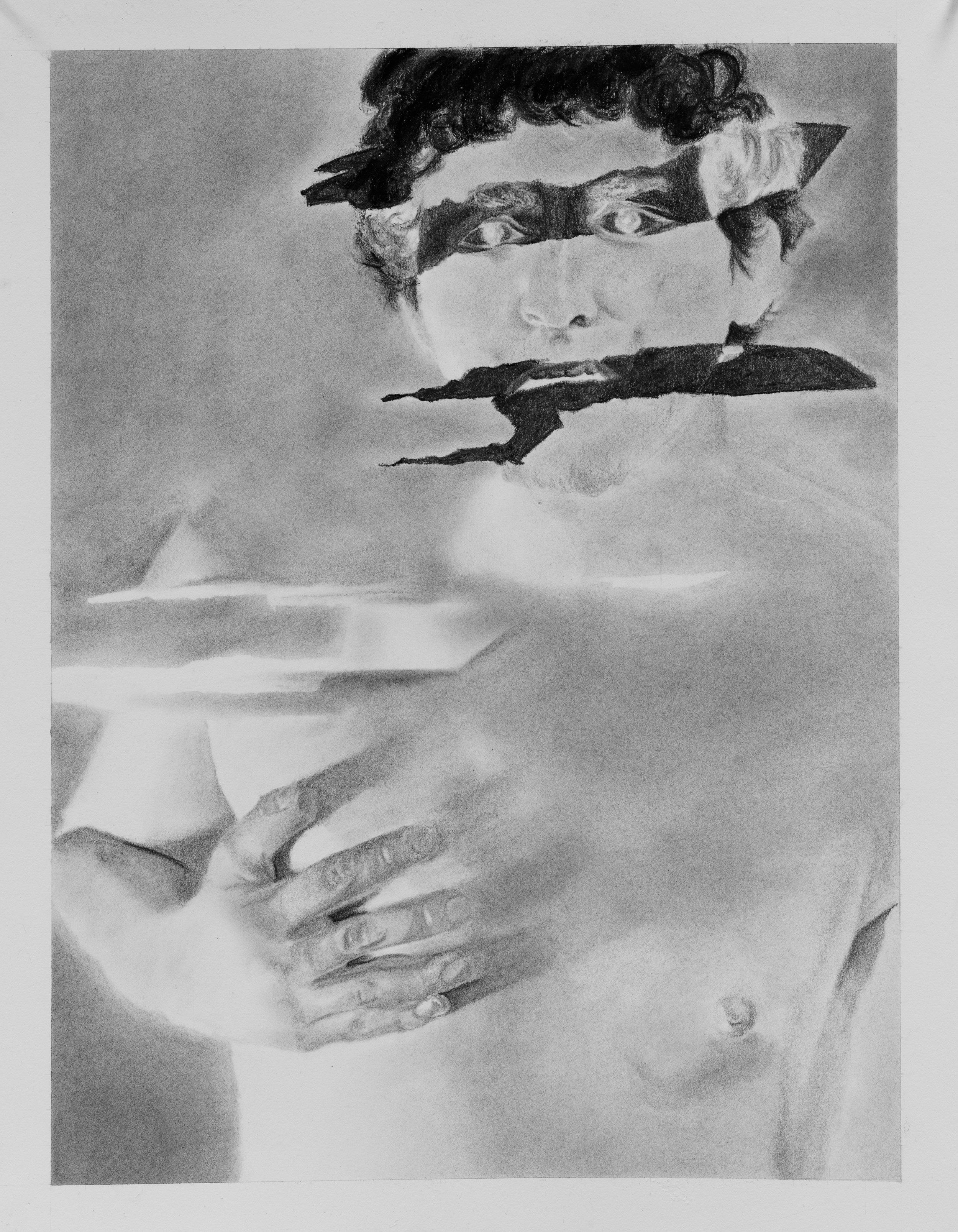 kc 4 Negative Self Portrait 12 x 16 in Charcoal on paper.jpg