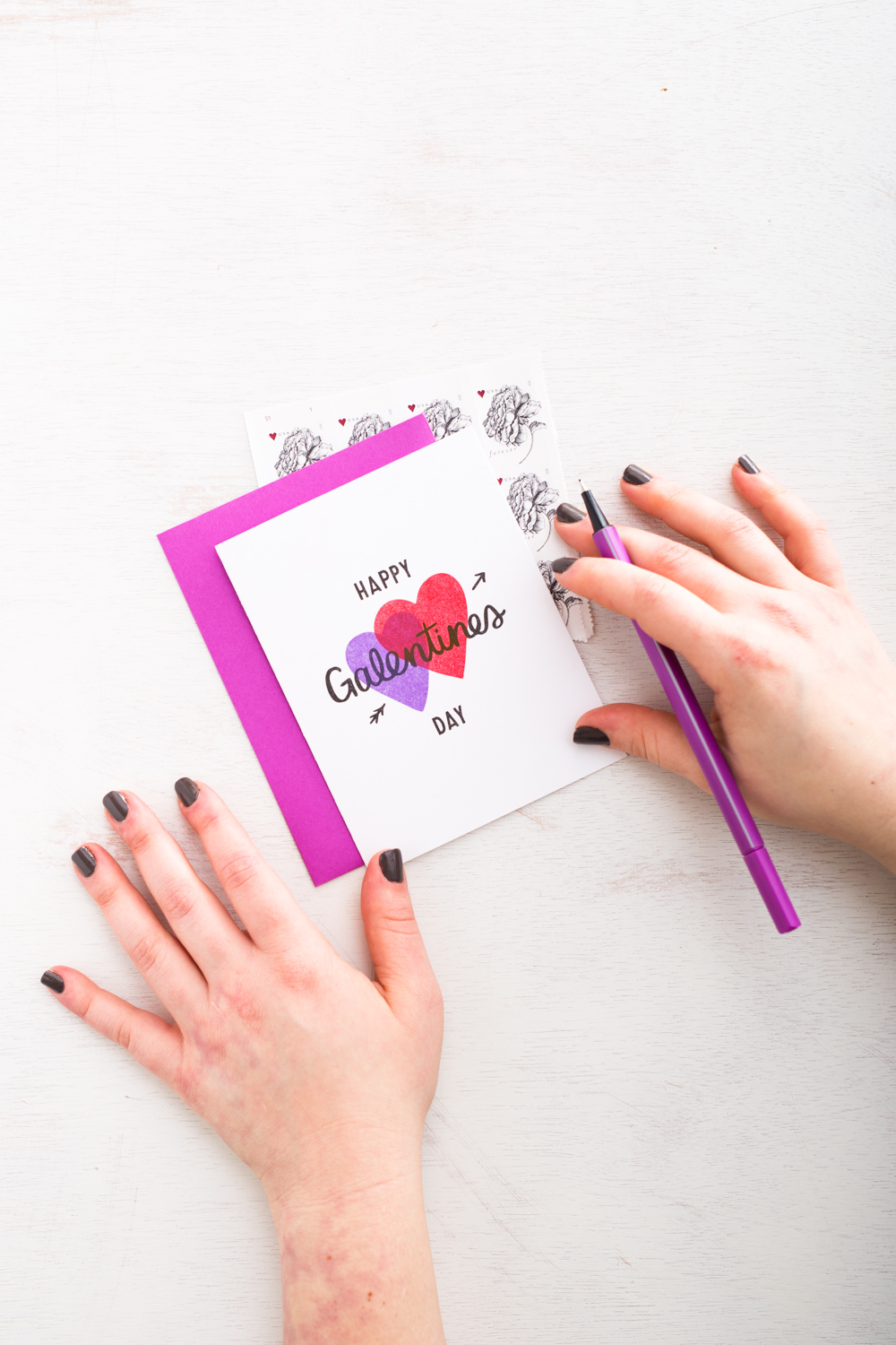 Happy Galentines Day card by Kat Marshello