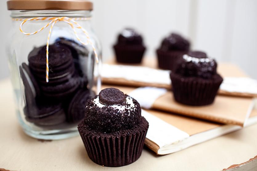 COOKIES AND CREAM  signature chocolate cupcake topped with buttercream and chocolate cookie crumbs