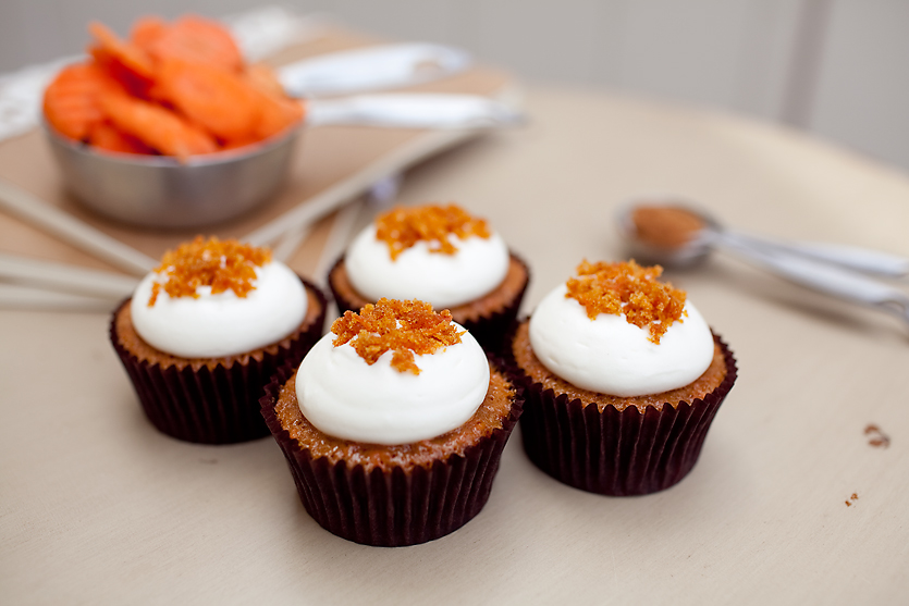 CARROT  classic carrot cupcake topped with cream cheese frosting