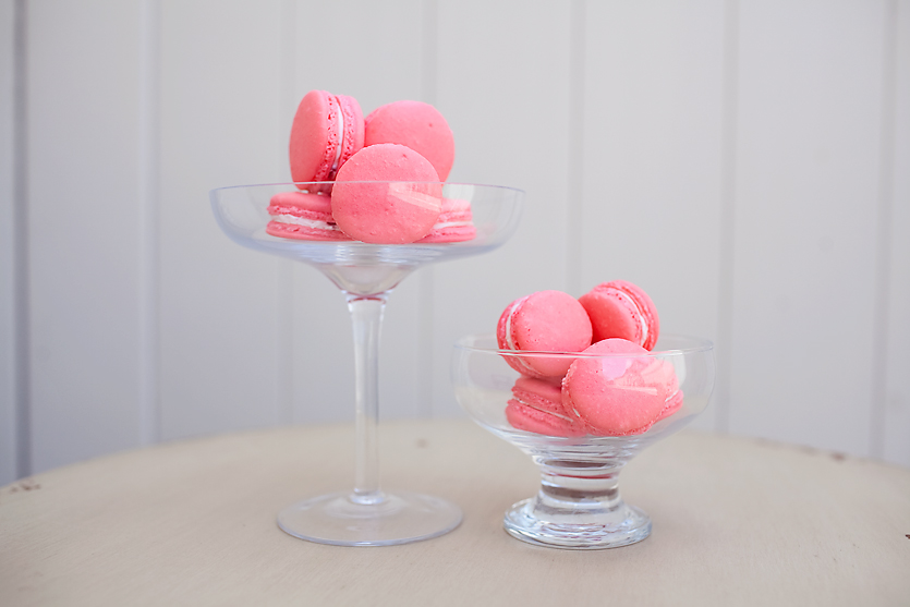 FRENCH MACARONS             $1.50/each  classic french treat that is gluten-free friendly and can be filled with buttercream, ganache, or jam.